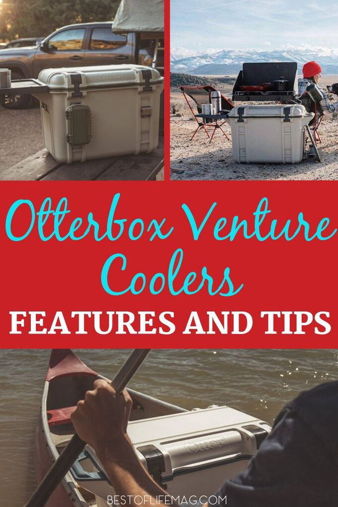 Otterbox venture Coolers have many different features that make them perfect for just about any adventure or need life throws your way. TravelTips | Tips for Camping | Camping Tips | Boating Tips | Tips for Boating | Beach Day Tips | Tips for Beach Days | Food Storage Tips #travel
