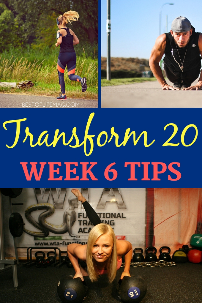 Welcome to the final stage, Transform 20 week 6 workouts. It is almost time for your victory lap but first, there are a few workouts that need to be done and we have tips to help you along the way. Transform 20 Tips | Transform 20 Review | Transform 20 Ideas | Transform 20 Week 6 | At-Home Workouts | Beachbody Workouts | Shawn T Workouts #beachbody #transform20 via @amybarseghian