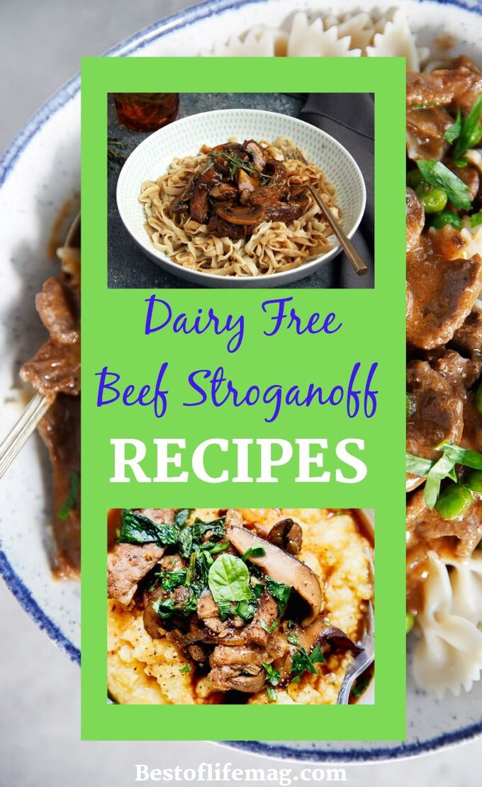 These dairy free beef stroganoff recipes have been chosen just for you, taking out the guesswork and making it easier to eat creamy comfort foods. Dairy Free Recipes | Dairy Free Dinner Recipes | Dairy Free Pasta Recipes | Healthy Dinner Recipes | Family Recipes #dairyfree #recipes  via @amybarseghian