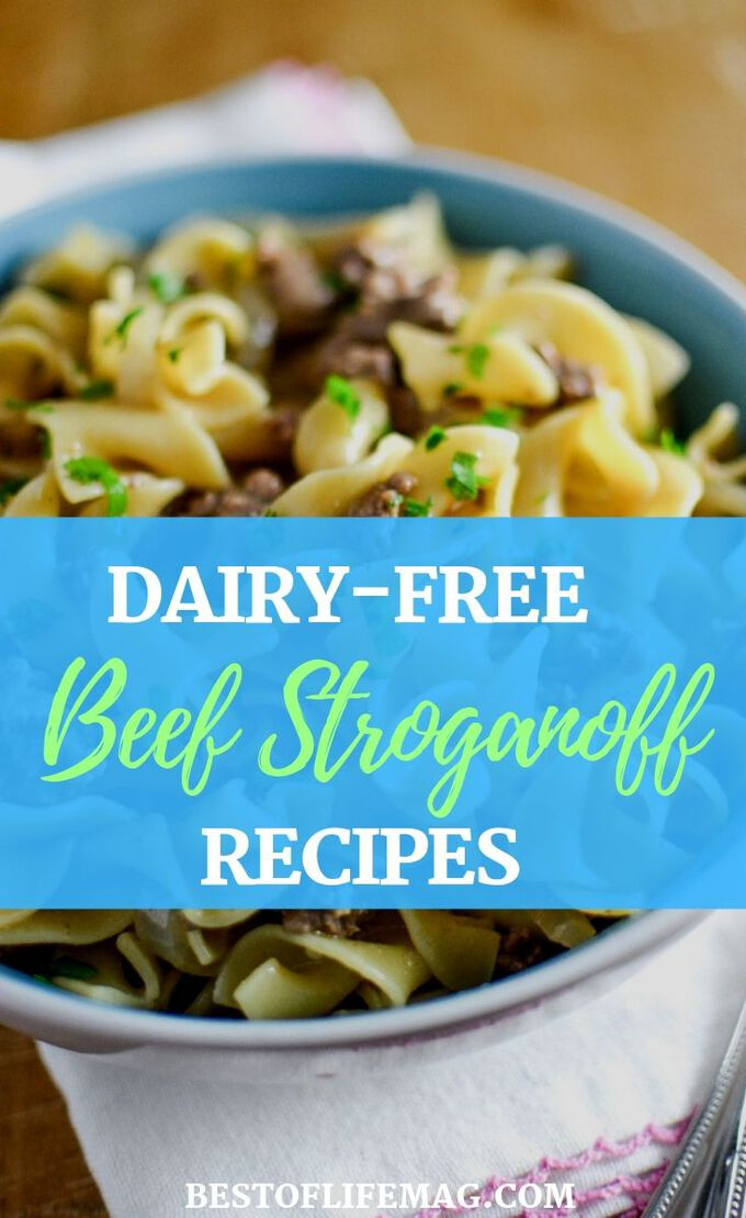 These dairy free beef stroganoff recipes have been chosen just for you, taking out the guesswork and making it easier to eat creamy comfort foods. Dairy Free Recipes | Dairy Free Dinner Recipes | Dairy Free Pasta Recipes | Healthy Dinner Recipes | Family Recipes #dairyfree #recipes