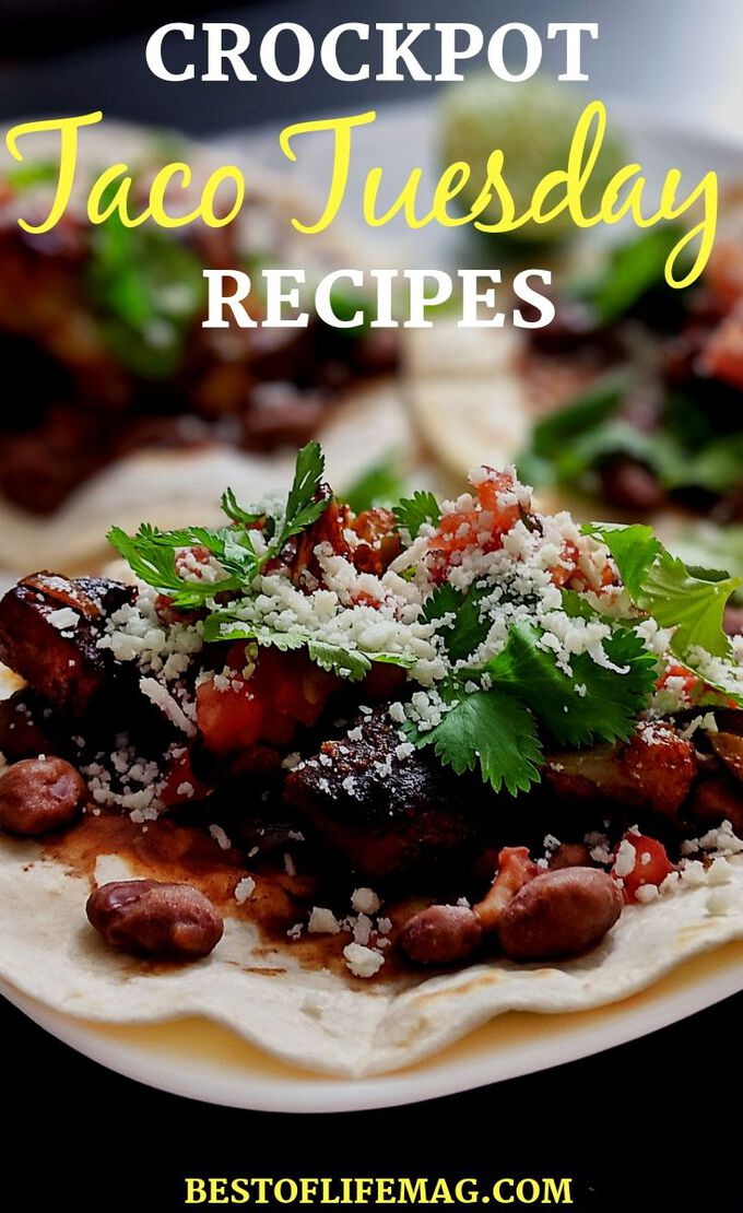 Take your Tuesday night to the next level with the best crockpot taco Tuesday recipes that are filled with flavor and sure to enhance your weekly fiesta. Taco Recipes | Slow Cooker Taco Recipes | Healthy Recipes | Mexican Crockpot Recipes | Taco Tuesday Side Dishes #crockpot #tacotuesday