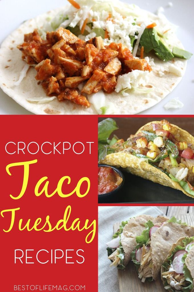 Take your Tuesday night to the next level with the best crockpot taco Tuesday recipes that are filled with flavor and sure to enhance your weekly fiesta. Taco Recipes | Slow Cooker Taco Recipes | Healthy Recipes | Mexican Crockpot Recipes | Taco Tuesday Side Dishes #crockpot #tacotuesday via @amybarseghian