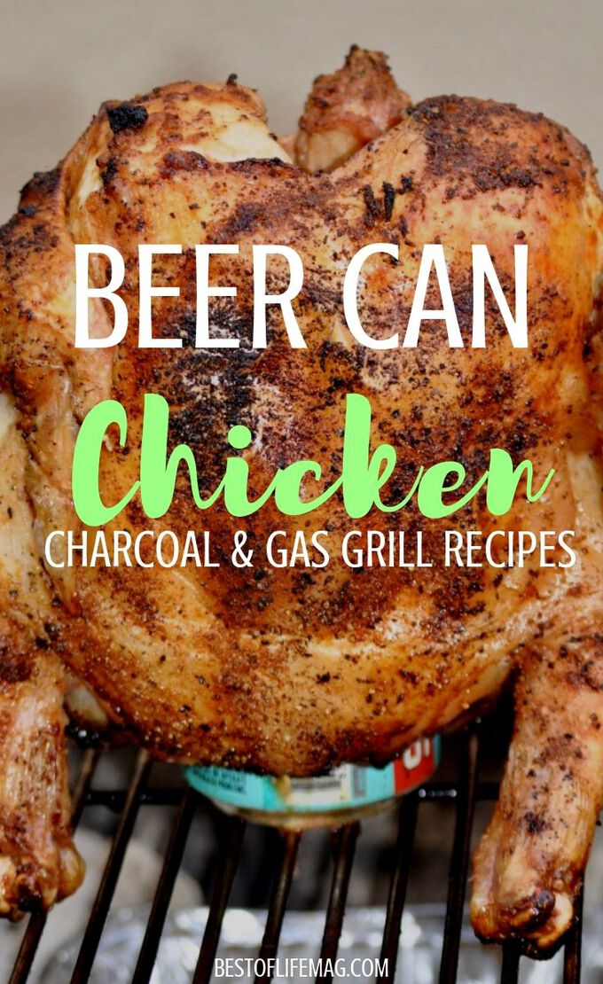 Beer can chicken is a classic recipe that never loses the wow factor. Whether cooking on a gas grill or charcoal, this easy recipe results in moist and delicious chicken. BBQ Recipes | Recipes for The Grill | Easy Chicken Recipes | Beer Can Chicken Tips | Party Recipes | Dinner Recipes with Chicken #dinnerrecipes