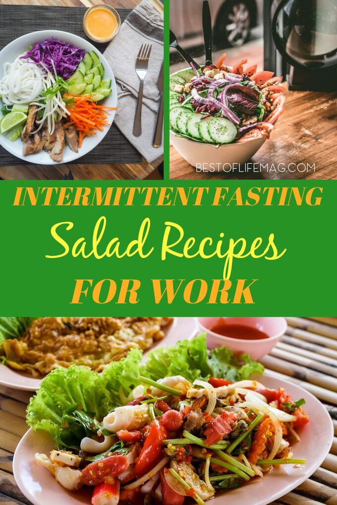 You can use some easy salad recipes for work to help you stay on track while you practice intermittent fasting to lose weight. Intermittent Fasting Recipes | Salad Recipes for Intermittent Fasting | Healthy Salad Recipes | Low Carb Salad Recipes | Weight Loss Salad Recipes #intermittentfasting #recipes via @amybarseghian