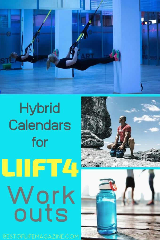 Use hybrid calendars for LIIFT4 workouts to help you get that hybrid Beachbody workout in with following successful schedules that have been used before. Beachbody Workout Tips | Beachbody Workout Calendars | Workout Schedule | At Home Workout Calendar | Beachbody Hybrid Calendars #beachbody #workouts