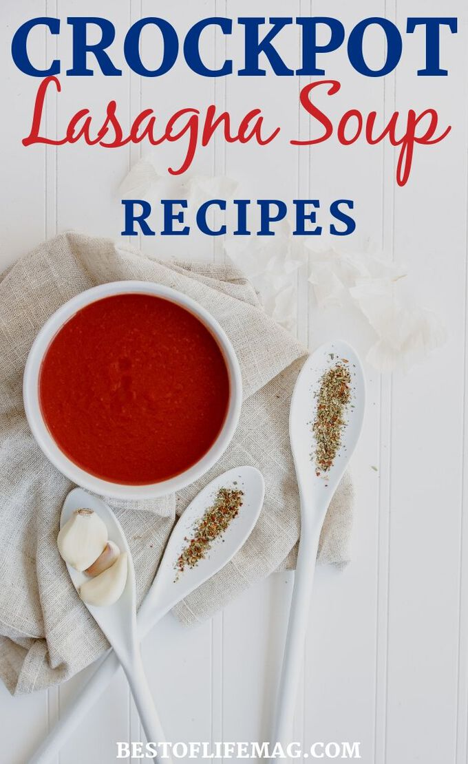 Enjoy lasagna in soup form with the best crockpot lasagna soup recipes for the entire family. The best part is, these are easy recipes to make any day of the week. Crockpot Soup Recipes   Slow Cooker Soup Recipes   Vegetarian Lasagna Soup Recipes   Fall Recipes   Freezer Crockpot Meals   Make-Ahead Soup Recipes #crockpot #recipes