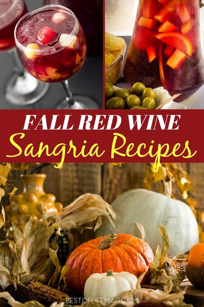 Fall red wine sangria recipes are perfect to cozy up with on chilly days and share with friends and family during holidays and gatherings. Wine Drinks | Wine Recipes | Happy Hour Recipes | Fall Recipes | Wine Party Recipes #sangria #wine  via @amybarseghian