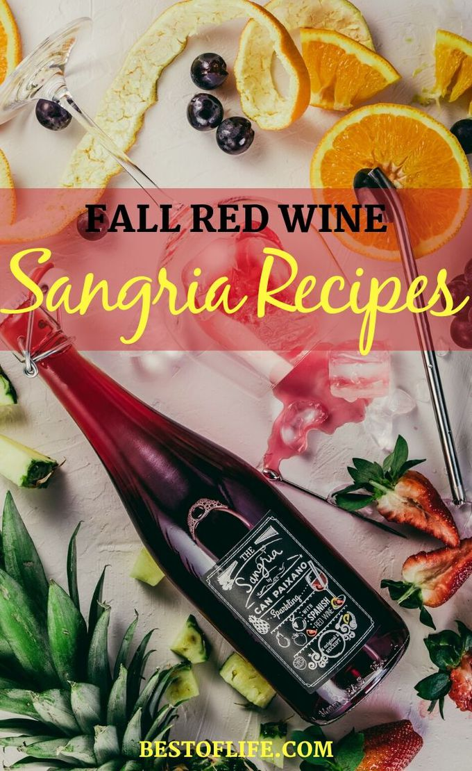 Fall red wine sangria recipes are perfect to cozy up with on chilly days and share with friends and family during holidays and gatherings. Wine Drinks | Wine Recipes | Happy Hour Recipes | Fall Recipes | Wine Party Recipes #sangria #wine
