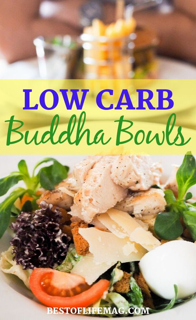 The growing popularity of Keto and other low carb diets have given low carb Buddha Bowls a new life and you a new option for a healthy meal! Weight Loss Recipes | Weight Loss Tips | Healthy Recipes | Buddha Bowl Ideas | Low Carb Recipes | Ketogenic Recipes | #LowCarb #Recipes #Lowcarbrecipes