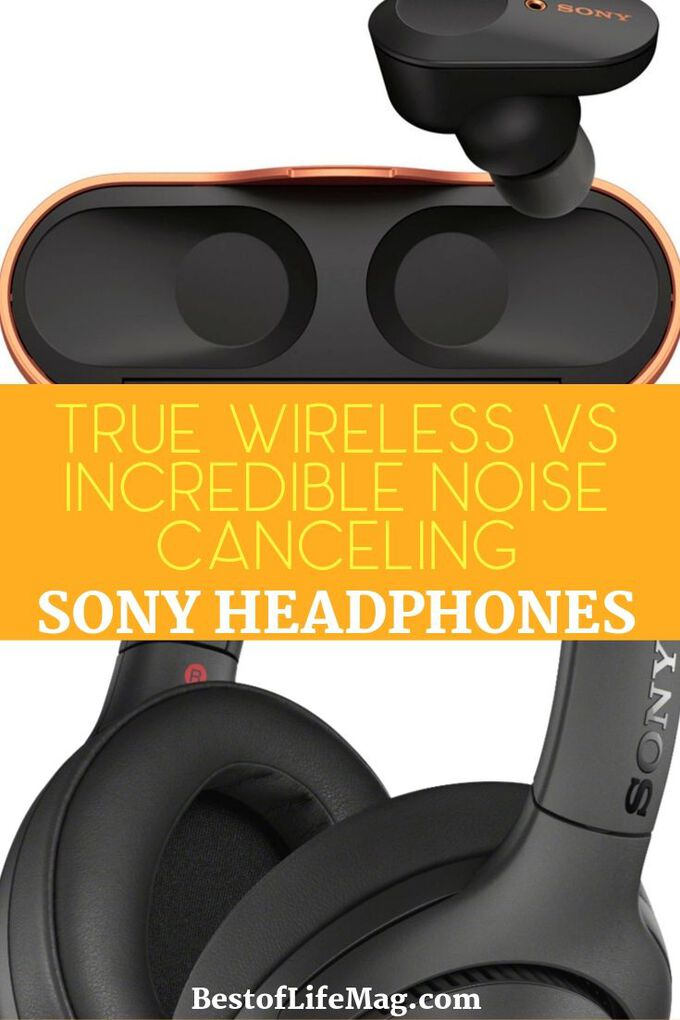 Are you looking at Sony True Wireless vs Sony Incredible Noise Cancellation headphones to see how they compare? We have the differences between these headphones so you can decide which is best for you. Tech Gift Guide | Gifts for Music Lovers | Gifts for Audiophiles | Sony Headphones Review | Sony Earbuds Review | Tech Gifts | Music Gifts #tech #sony