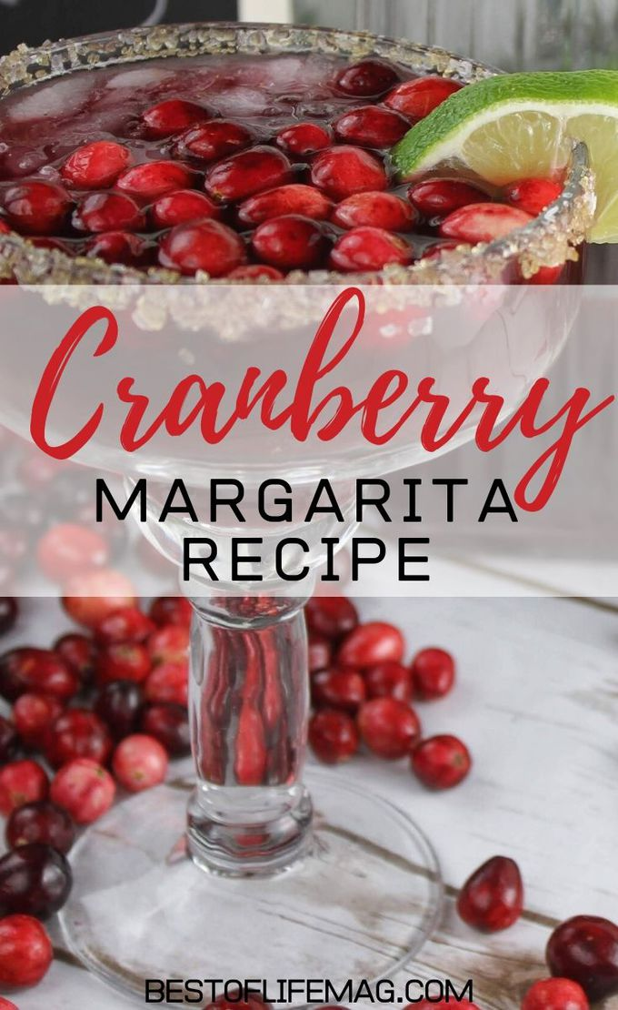 Cranberries lend themselves perfectly to the holidays and this cranberry margarita recipe balances tequila with seasonal cranberries perfectly! Holiday Cocktail Recipes | Holiday Party Recipe | Christmas Cocktails | Christmas Party Cocktails | Cocktails with Cranberries | Cranberry Drinks | Winter Margarita Recipes | Winter Cocktail Recipes #cocktails #Holidays #margaritas
