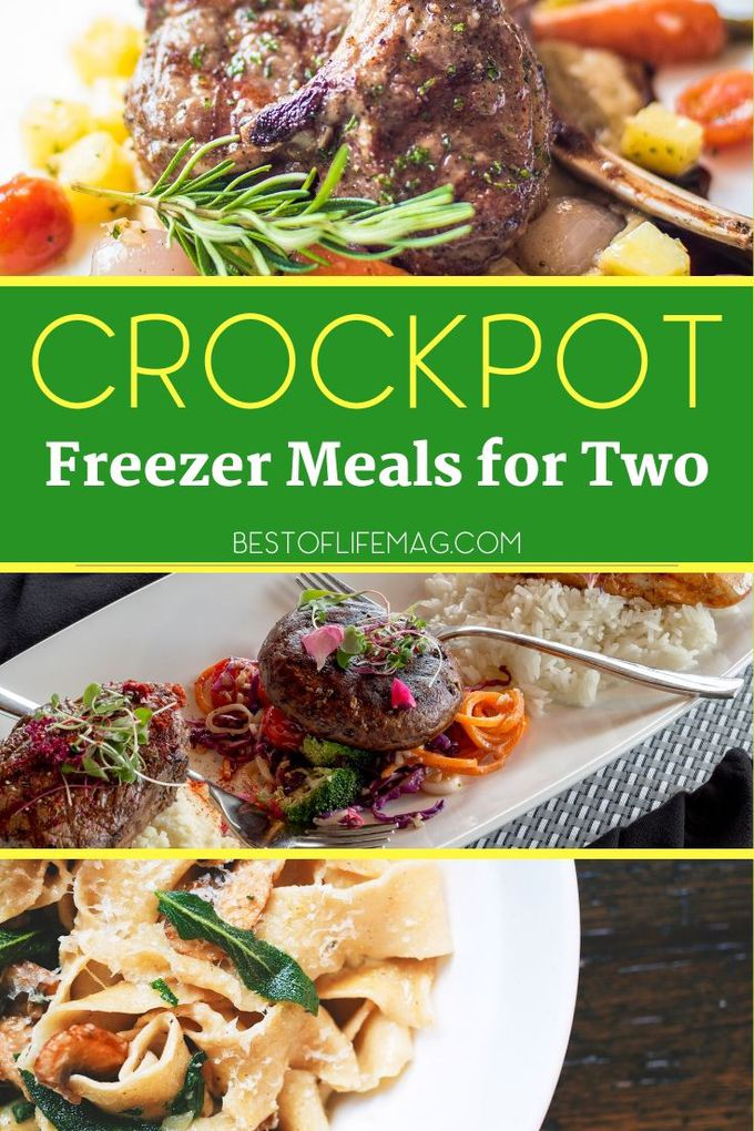 Delicious crockpot freezer meals for two make for an easy date night dinner at home or just a nice crockpot recipe to try for fun. Healthy Crockpot Freezer Meals | Make-Ahead Freezer Meals | Crockpot recipes for two | Date Night Recipes | Recipes for Couples | Romantic Recipes #crockpot #freezermeals