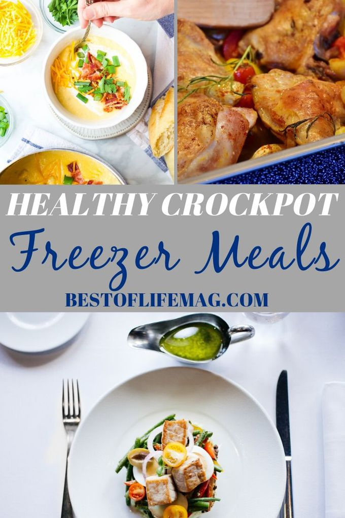 Time is very important and saving time in the kitchen is easier with these healthy crockpot freezer meals. Crockpot Recipes | Freezer Meals | Slow Cooker Freezer Meals | Healthy Crockpot Recipes | Slow Cooker Dump Recipes | Healthy Dinner Recipes | Healthy Lunch Recipes | Crockpot Soup Recipes #crockpot #freezermeals