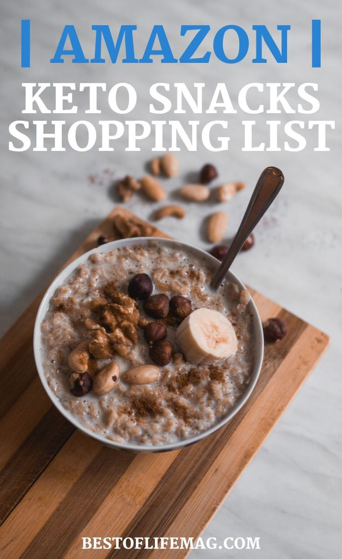 Stocking up on keto snacks and stashing them away for when you need them is a good use of a keto snacks Amazon shopping list and a big help for weight loss. Keto Snack Tips | Keto Shopping List | Low Carb Shopping List | Weight Loss Snacks Amazon | Snacks for Weight Loss | Healthy Snacks Amazon #keto #amazon