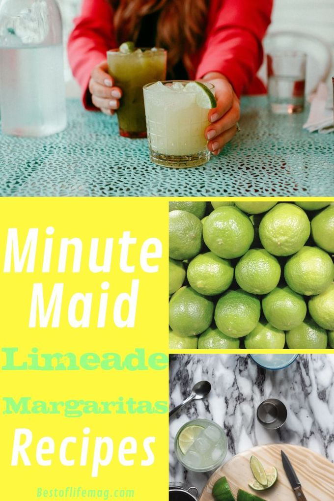 Minute Maid Limeade margarita recipes are easy to make and can be the star of the show for your party or cookout. Party Cocktail Recipes | Party Recipes | Summer Cocktail Recipes | BBQ Recipes | Summer Recipes | Margarita Recipes with Limeade | Lime Margarita Recipes #margaritas #recipes