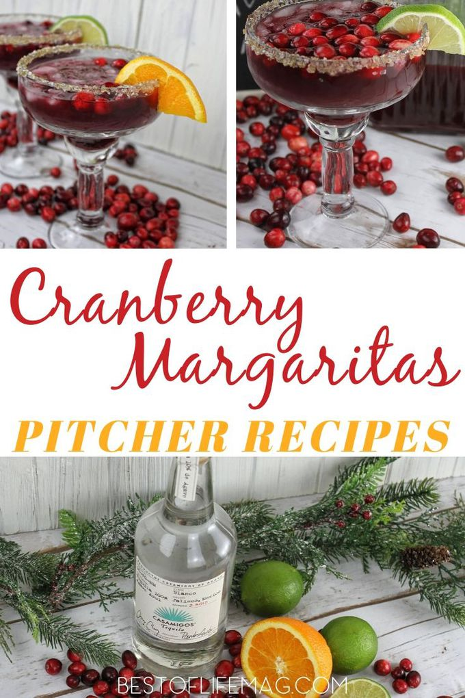 The easiest cranberry margaritas pitcher recipe is perfect for crowds at any time of the year and very easy to make so everyone can enjoy them easily. Holiday Party Recipes | Holiday Party Cocktails | Pitcher Margarita Recipe | Cocktails for a Crowd #margarita #holidays via @amybarseghian