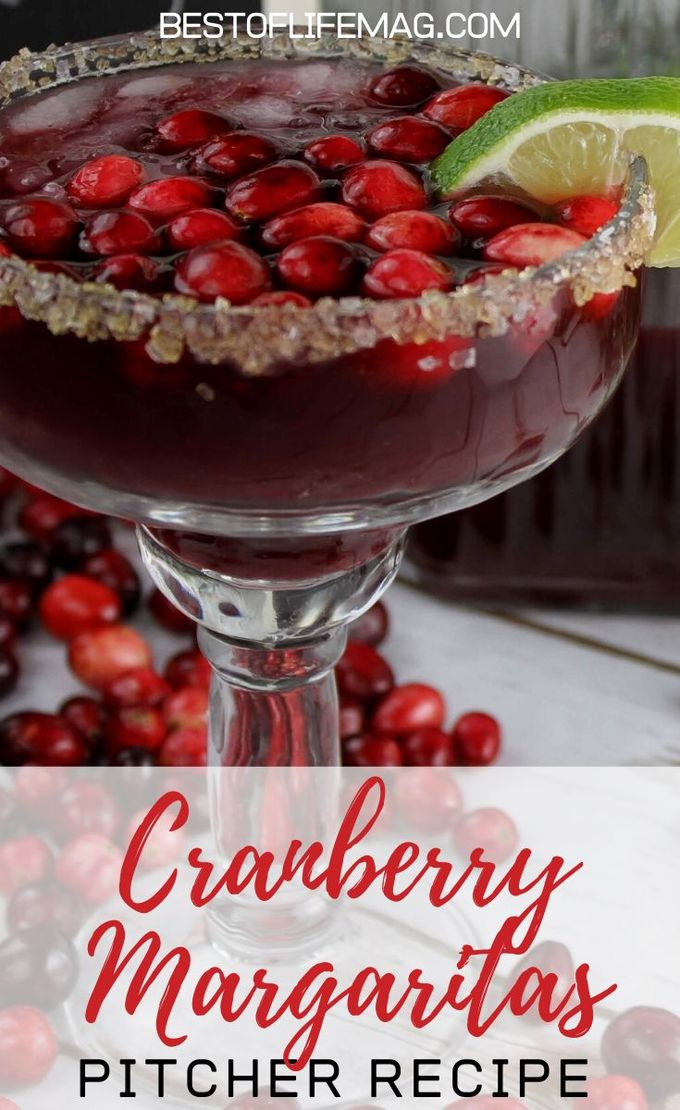 The easiest cranberry margaritas pitcher recipe is perfect for crowds at any time of the year and very easy to make so everyone can enjoy them easily. Holiday Party Recipes | Holiday Party Cocktails | Pitcher Margarita Recipe | Cocktails for a Crowd #margarita #holidays