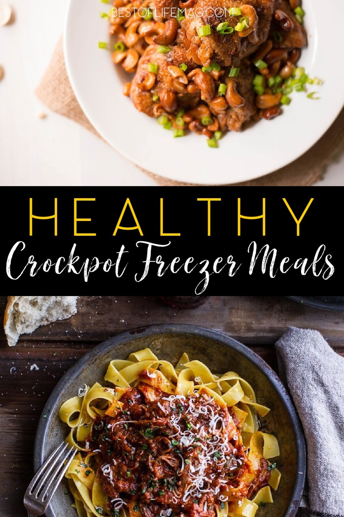 Time is very important and saving time in the kitchen is easier with these healthy crockpot freezer meals. Crockpot Recipes | Freezer Meals | Slow Cooker Freezer Meals | Healthy Crockpot Recipes | Slow Cooker Dump Recipes | Healthy Dinner Recipes | Healthy Lunch Recipes | Crockpot Soup Recipes #crockpot #freezermeals via @amybarseghian
