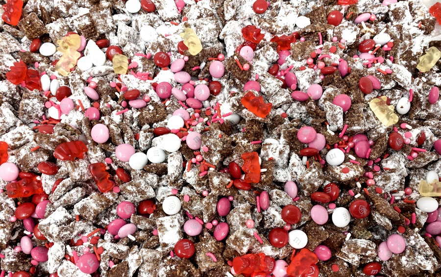 This easy puppy chow Chex Mix recipe with chocolate is one that everyone enjoys and you can easily adapt the colors for any holiday or occasion. Puppy Chow Chex Mix Recipe White Chocolate   Puppy Chow Recipe Variations   Puppy Chow Trail Mix   Sweet Chex Mix Recipe   How to Make Puppy Chow   Chex Mix Muddy Buddies Flavors