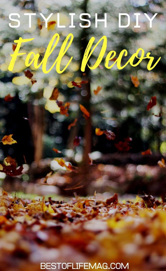 DIY Fall Décor doesn't have to be unflattering! These are some stylish DIY Fall Decor ideas that you can make at home to enhance your fall look! DIY Crafts for Fall | Fall Décor | Homemade Fall Décor | DIY Home Décor | Fall Craft Ideas | DIY for the Home | Fun DIY Ideas #DIY #decor