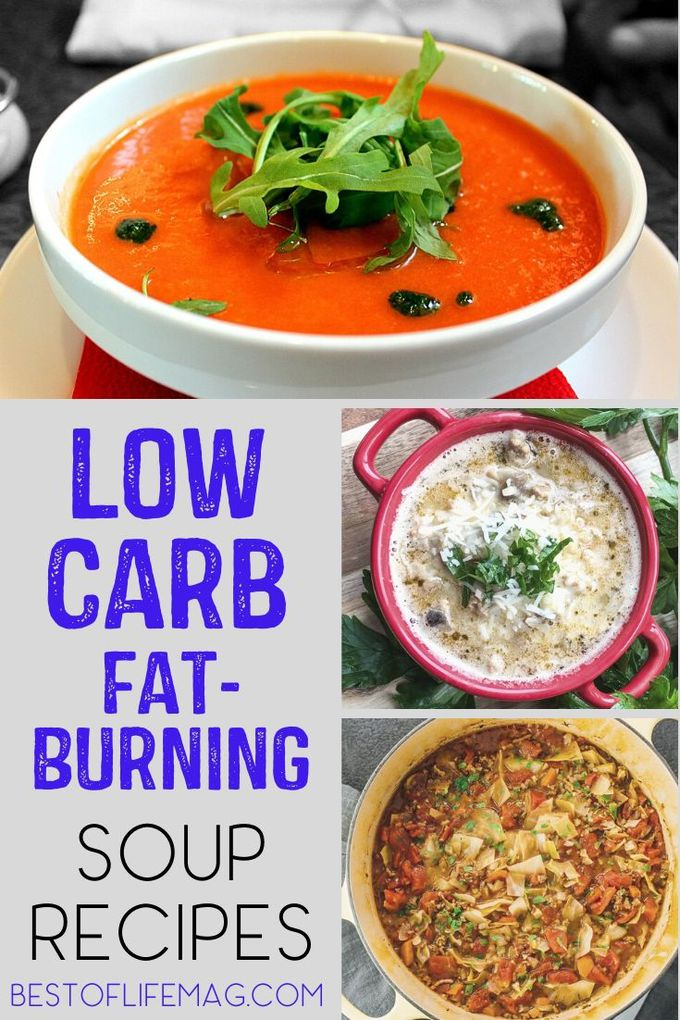 The best low carb fat burning soup recipes are guaranteed to rev up your metabolism and help you feel full longer and put you in control. Keto Soup Recipes | Weight Loss Soup Recipes | Keto Recipes for Lunch | Low Carb Recipes | Low Carb Dinner Recipes | Fat Burning Soups #recipe #lowcarb