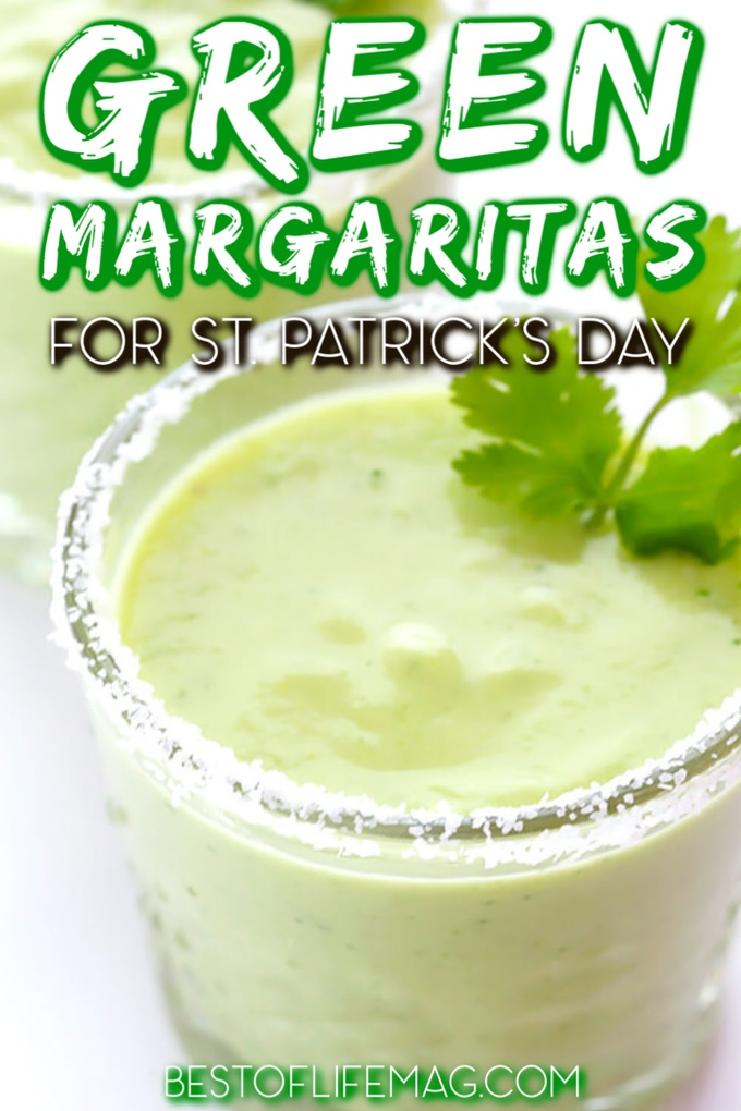 Green margaritas for St Patricks Day can help you get into the Irish spirit with some spirits of your own and some of the easiest cocktails to make. St Patricks Day Recipes | St Patricks Day Drinks | Green Drinks for St Patricks Day | Green Cocktails for St Patricks Day | Margarita Recipes for a Crowd | Green Margarita Ideas #margarita #stpatricksday