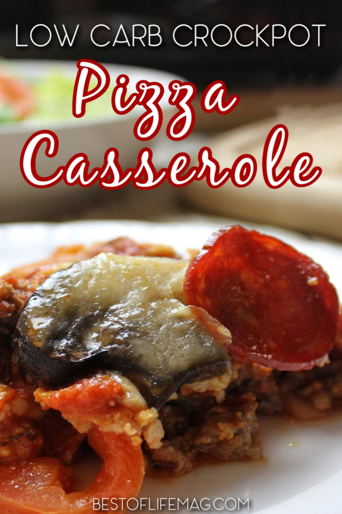 Our low carb crockpot pizza casserole offers a healthy and tasty twist on a well-loved dish making it a healthy meal planning recipe you can enjoy whenever you desire. Keto Crockpot Recipes | Low Carb Crockpot Recipes | Low Carb Pizza Recipe | Pepperoni Pizza Casserole Healthy | Weight Loss Recipe | Weight Loss Pizza #lowcarb #pizza via @amybarseghian