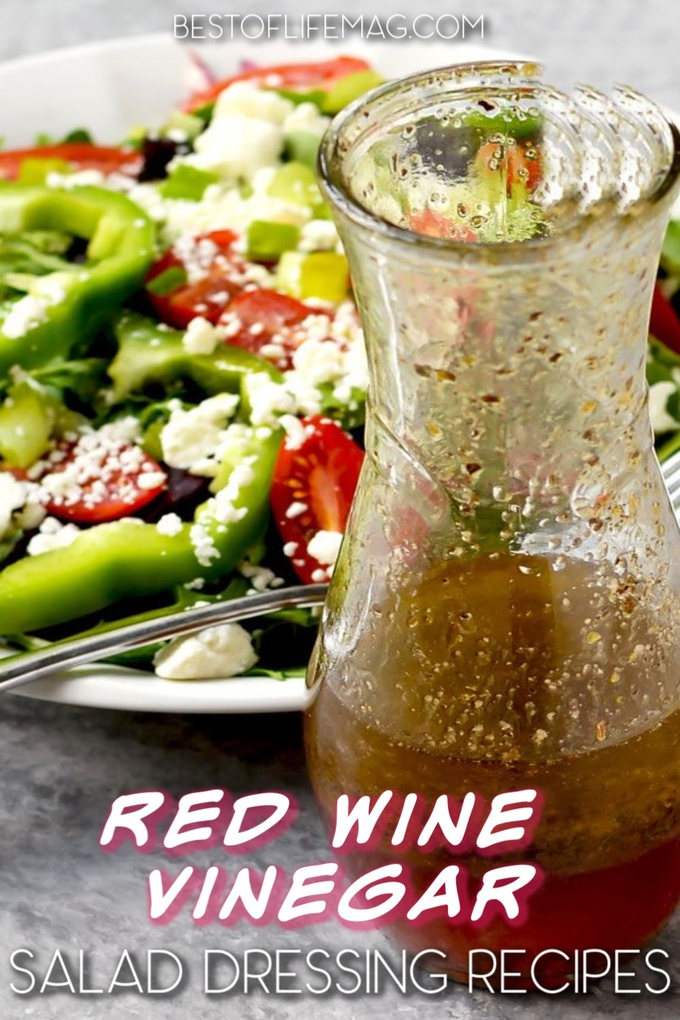 Take your salad recipes to the next level with a delicious homemade dressing! These red wine vinegar dressing recipes could help. Red Wine Vinegar Salad Dressing Healthy | Italian Red Wine Vinegar Dressing | Healthy Salad Dressing Recipes | Homemade Salad Dressing | Red Wine Vinegar Recipes #dinnerrecipes #healthyrecipes via @amybarseghian