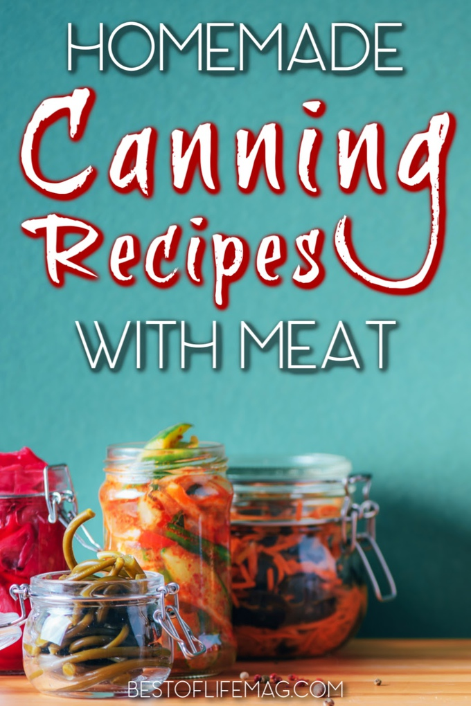 Canning recipes with meat offer a bit of variety to cooking and meal planning and help you store food for a rainy day. Tips for Canning | What is Canning | Canning Meat at Home | Food Storage Recipes | Pantry Recipes #recipes #canning