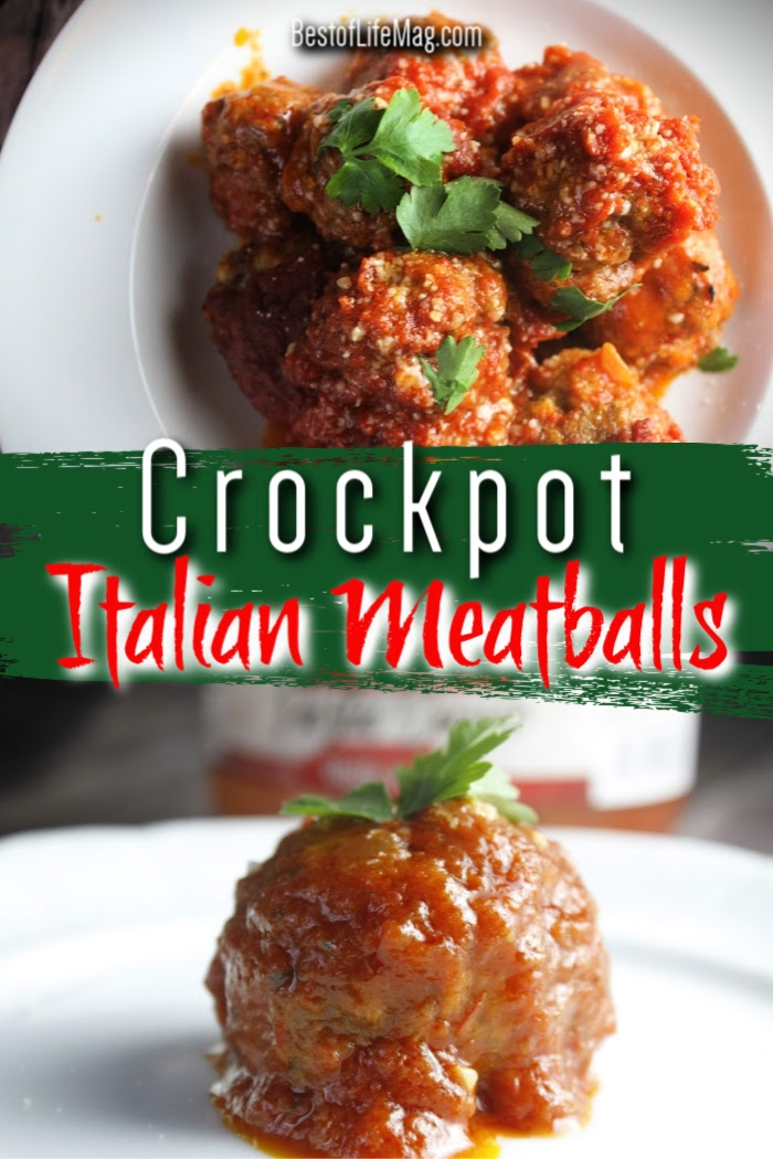 Crockpot Italian meatballs are a staple recipe that can be used for date night or family dinners. Crockpot meatballs are also a popular party food recipe! Crockpot Dinner Recipes | Crockpot Pasta Recipes | Slow Cooker Italian Recipes | Homemade Crockpot Meatballs | Meatball Appetizer Recipes | Crockpot Party Recipes | Marinara Meatballs Crockpot #italian #crockpot via @amybarseghian