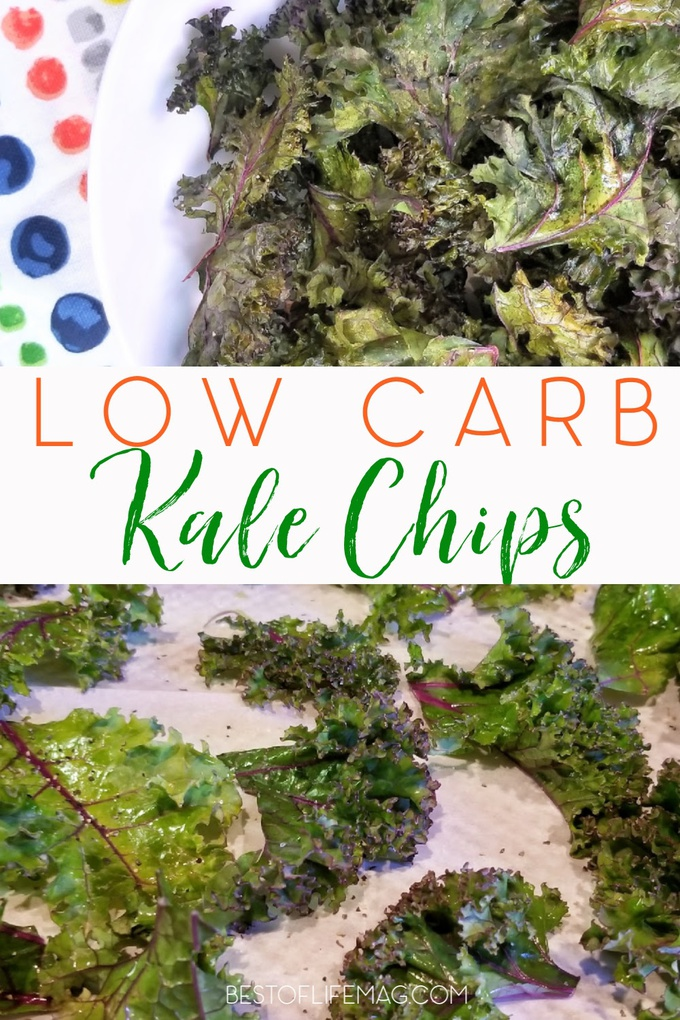 A low carb kale chips recipe can help you stay on track with your diet by providing you with a delicious and healthy weight loss snack. Low Carb Snacks | Low Carb Recipes | Keto Snack Recipes | Kale Recipes | Recipes for Weight Loss | Healthy Kale Recipes #lowcarb #recipes