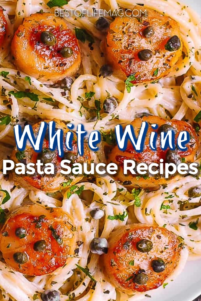 White wine pasta sauce recipes make romantic dinner ideas much easier no matter what the occasion and they pair well with a glass of white wine as well. Seafood Pasta Recipes | Chicken Pasta Recipes | White Pasta Sauce with Wine | White Wine Cooking Tips | Pasta Recipes with White Wine | Romantic Recipes for Two | Date Night Recipes | Valentines Day Recipes #wine #recipe