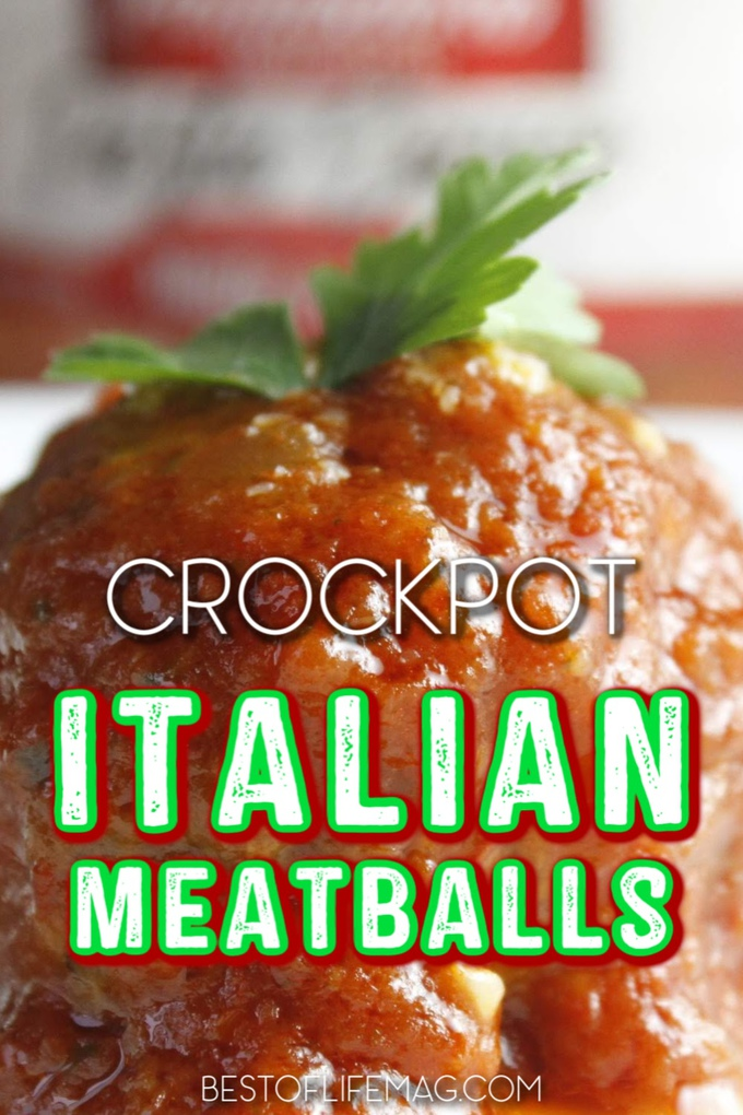Crockpot Italian meatballs are a staple recipe that can be used for date night or family dinners. Crockpot meatballs are also a popular party food recipe! Crockpot Dinner Recipes | Crockpot Pasta Recipes | Slow Cooker Italian Recipes | Homemade Crockpot Meatballs | Meatball Appetizer Recipes | Crockpot Party Recipes | Marinara Meatballs Crockpot #italian #crockpot