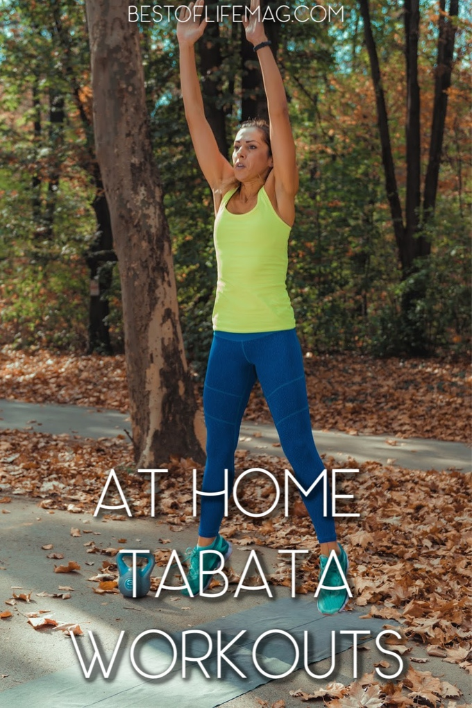 These at home Tabata workouts are perfect as beginner workouts for those who want a quality workout when crunched for time. Home Fitness Ideas | Tips for Home Workouts | At Home Workouts for Men | At Home Workouts for Women | Tips for Tabata Workouts #tabata #workout