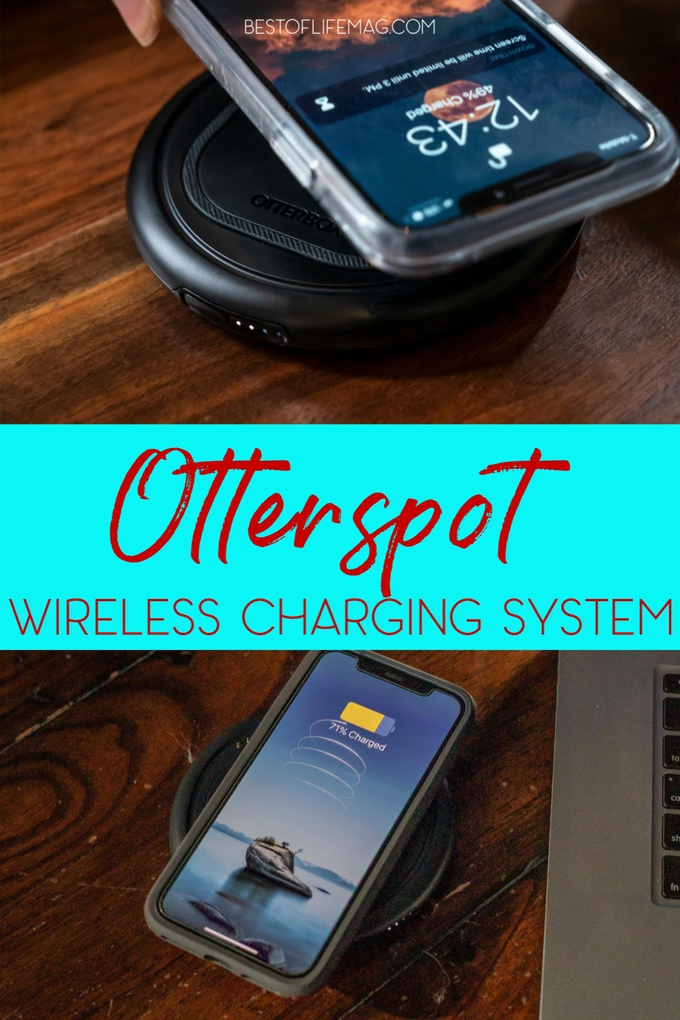 The Otterspot Wireless Charging System is all about wireless charging features for your smartphone to help you keep up with a tech-savvy life. Wireless Charging | iPhone Accessories | Otterbox Products | Otterspot Review | Tips for Technology | Tech Tips | Work from Home #otterbox #tech via @amybarseghian