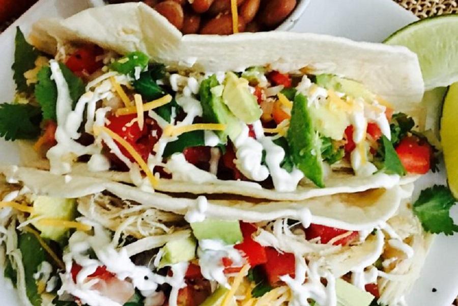 2B Mindset Crock Pot Recipes Close Up of Soft Tacos