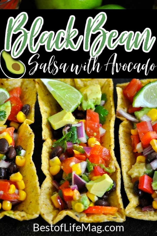 Impress your guests with this black bean salsa recipe served in fiesta flats! With avocado and fresh vegetables galore, it is healthy and easy to make! How to Make Black Bean Salsa | Salsa Recipe with Black Beans | Appetizer Recipes | Party Dip Recipes | Recipes for Parties | Recipes for a Crowd | Mexican Dip Recipes | Fresh Salsa Ideas | Salsa with Beans #partyfood #salsarecipes via @amybarseghian