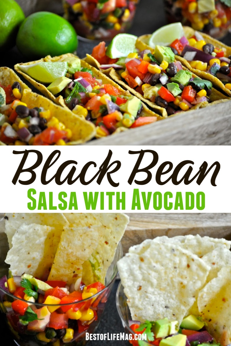 Impress your guests with this black bean salsa recipe served in fiesta flats! With avocado and fresh vegetables galore it is healthy and easy to make! How to Make Black Bean Salsa | Salsa Recipe with Black Beans | Canned Black Bean Salsa | Party Dip Recipes | Recipes for Parties | Recipes for a Crowd | Mexin Dip Recipes | #party #recipes via @amybarseghian