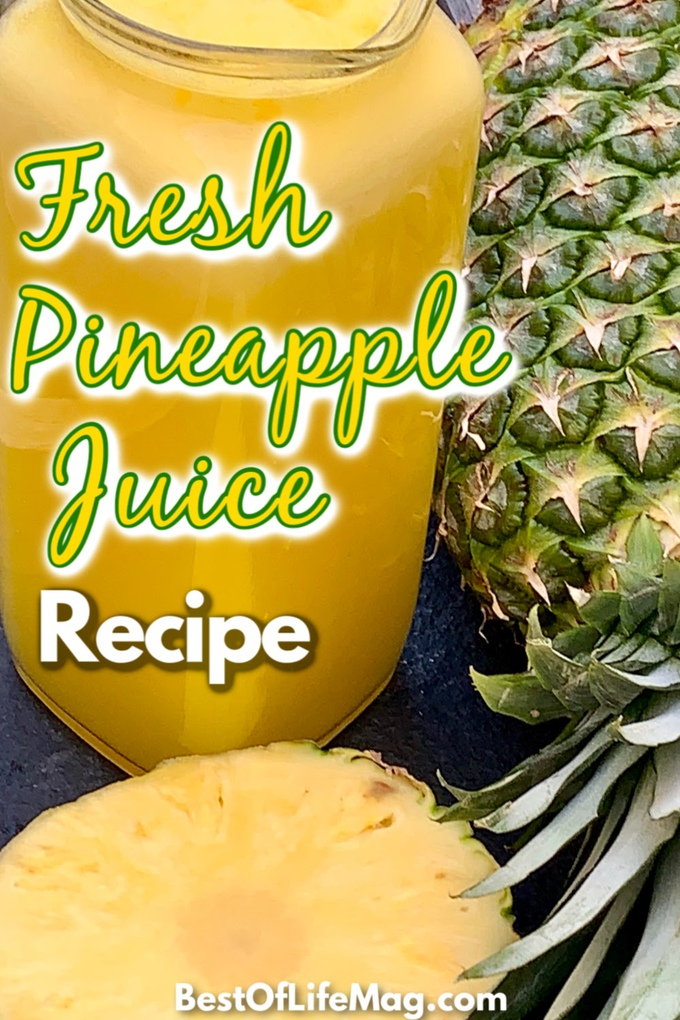 Learning how to make fresh pineapple juice is a great way to enjoy healthy juices at home without all of that sugar found in store-bought juice. Making Juice at Home | Pineapple Juice Ideas | Fresh Juice Recipes | Pineapple Recipes | Tips for Juicing | Smoothie Tips | Healthy Juices and Smoothies #fruit #juice via @amybarseghian