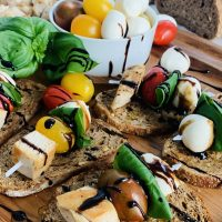 Healthy Chicken Caprese Recipe Chicken Caprese Set on a Platter