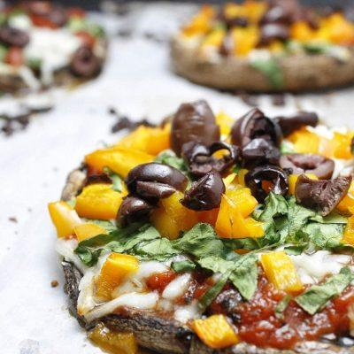 2B Mindset Portobello Pizza Recipe Cooked Pizzas