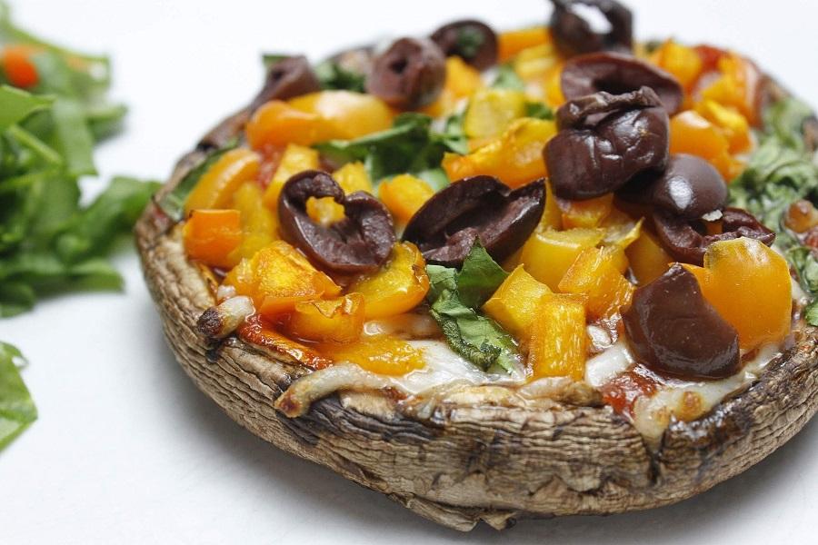 2B Mindset Portobello Pizza Recipe Portobello Pizza with Peppers and Olives