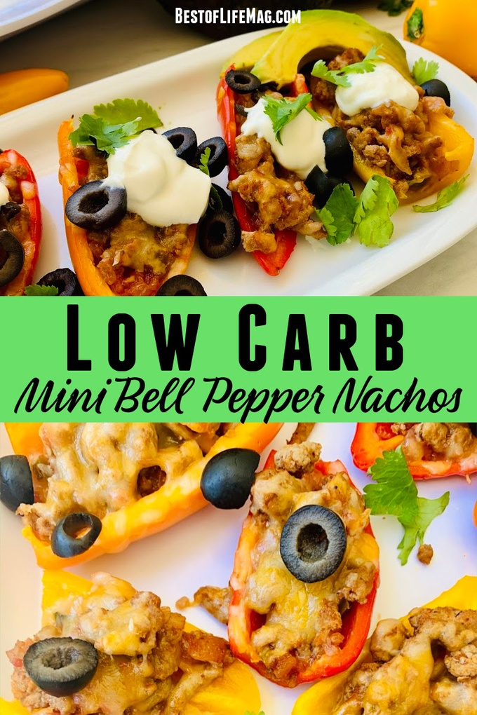 Low carb mini bell pepper nachos are a healthy snack that easily fit into your healthy meal planning and also make a great gluten free snack or lunch. Keto Nacho Recipes | Low Carb Nachos | Gluten Free Nacho Recipes | Gluten Free Recipes | Low Carb Recipes | Weight Loss Recipes | Keto Nacho Recipes #lowcarb #nachos via @amybarseghian