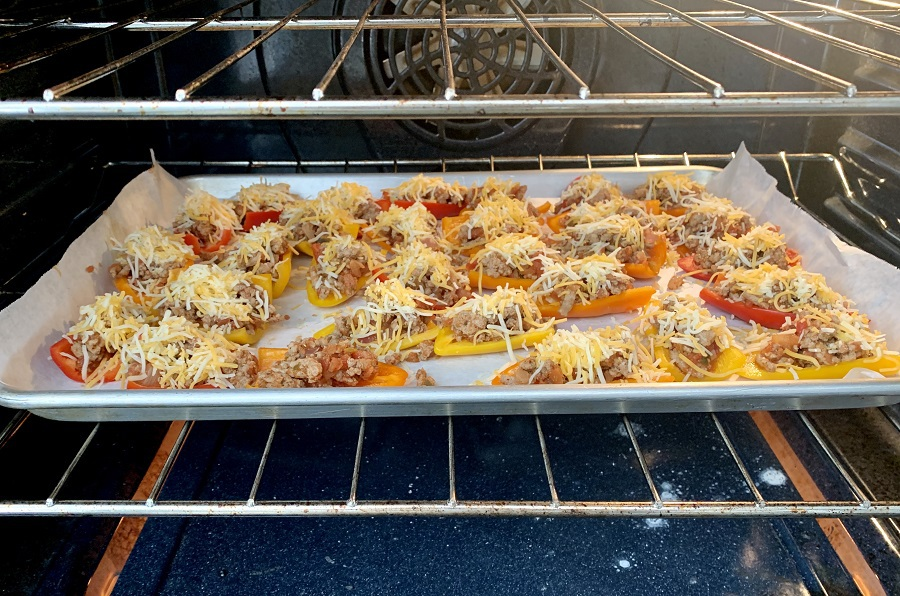 Low Carb Mini Bell Pepper Nachos In the Oven