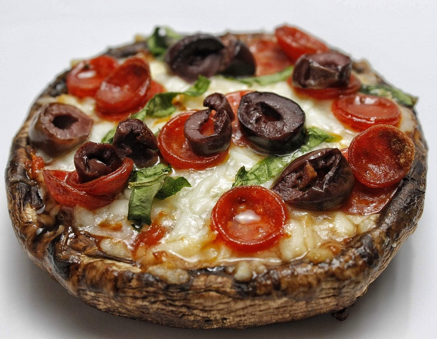 2B Mindset Portobello Pizza Recipe Close Up of Cooked Pizza