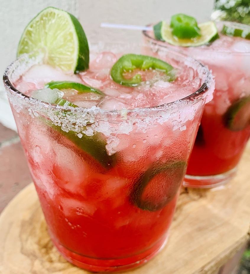 Spicy Margarita Recipe Two Glasses of Margarita