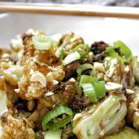 2B Mindset Kung Pao Veggies Recipe Close Up of Kung Pao Veggies