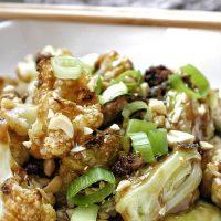 2B Mindset Kung Pao Veggies Recipe Close Up of Kung Pao Veggies