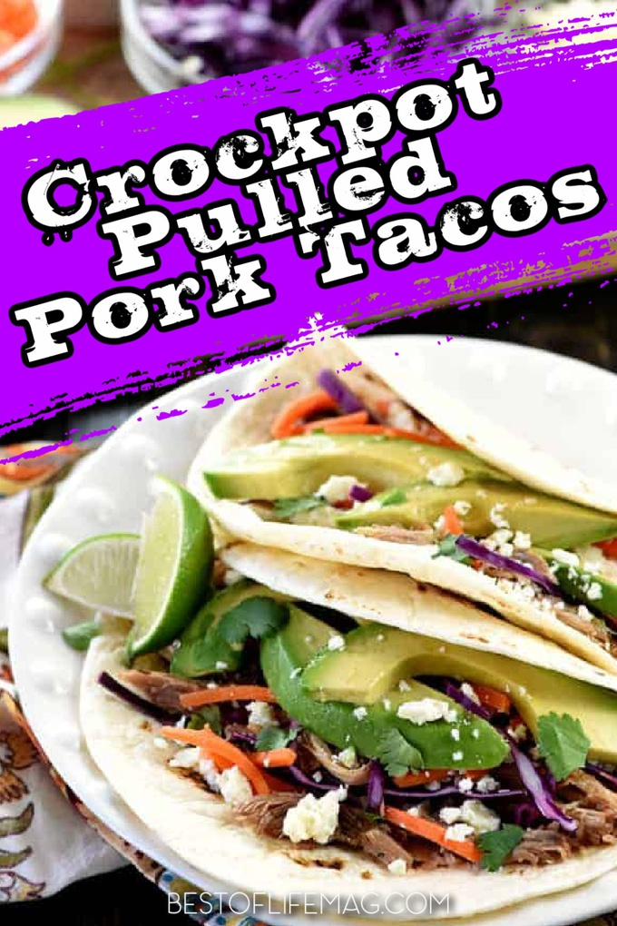 Get excited for Taco Tuesday again with the best crockpot pulled pork tacos recipes that are also an easy crockpot dinner recipe. Easy Crockpot Recipes | BBQ Pulled Pork Tacos | Smoked Pulled Pork Tacos | Leftover Pulled Pork Tacos | Mexican Pork Tacos | Crockpot Taco Tuesday Recipes | Slow Cooker Taco Recipes #crockpot #tacos via @amybarseghian