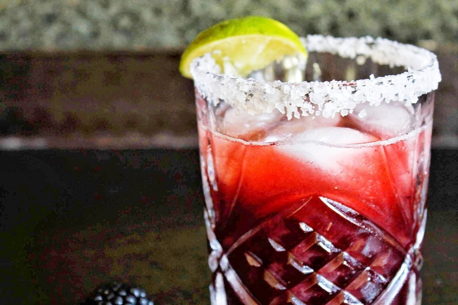 Fruity Margarita Recipes Close Up of a Cranberry Margarita
